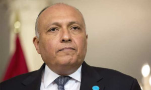 Egyptian Foreign Minister Sameh Shoukry in February 19, 2015.