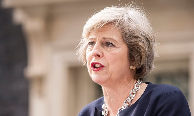 British PM May deeply concerned by jailing of woman in Iran