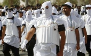 Shiite fighters have been staging parades in Baghdad and elsewhere since the government called on militias to take up arms against Sunni extremists. (AFP)