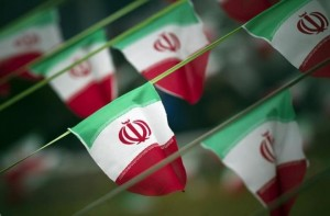 Iran's national flags are seen on a square in Tehran February 10, 2012, a day before the anniversary of the Islamic Revolution. (Reuters)