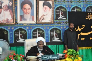 The Islamic Movement in under the Leadership of Sheikh Ibraheem Zakzaky marking the matrydom of Imam Ali on July 27th 2013. .