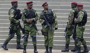 Kenyan counter-terrorism forces in Nairobi. (Reuters)