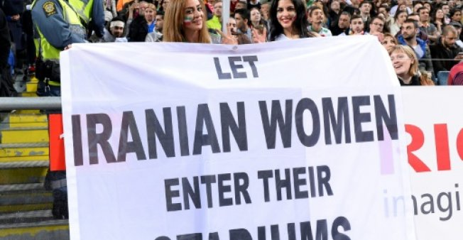 Iran's female fans find soccer buzz in cafes and malls