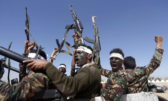 US blames Iran for helping Houthis shoot down drone in Yemen