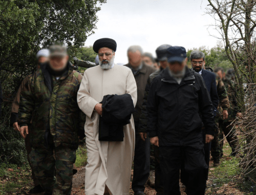 Why did Hezbollah's leader bother to greet Raeesi?