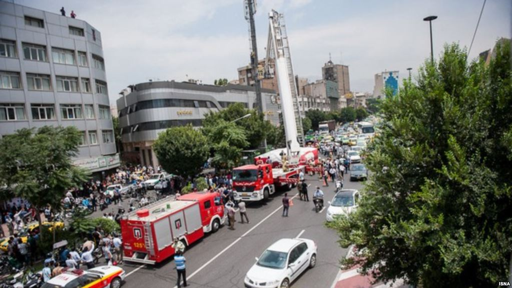 Gas explosion shakes building in Tehran, one person injured