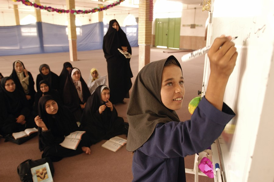 How Iran utilised education to spread Khomeini's teachings and influence policy making in the Muslim world