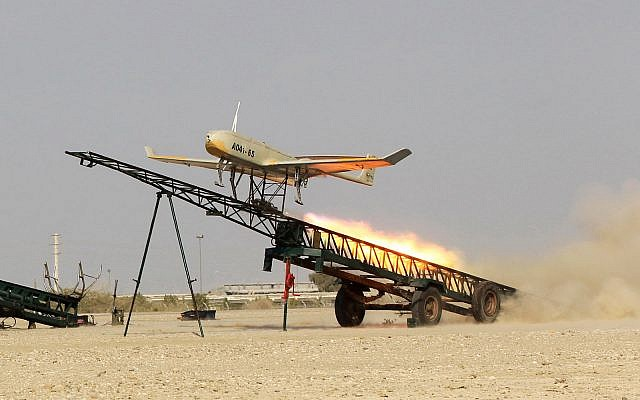 Iran holds drill near key strait, tests armed drones