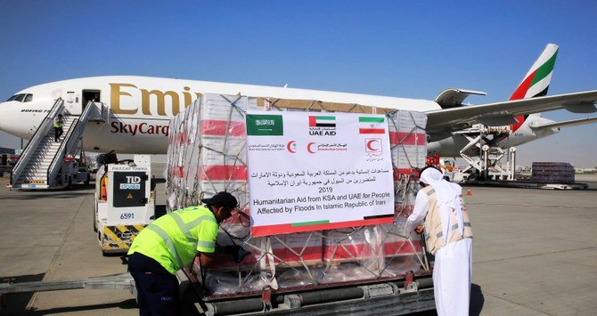 Saudi Arabia, UAE send 95 tons of relief aid to flood-hit Iranians