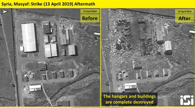Satellite images show possible Iranian missile factory in Syria destroyed