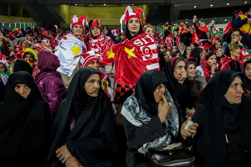 Undercover: female football fans in Iran