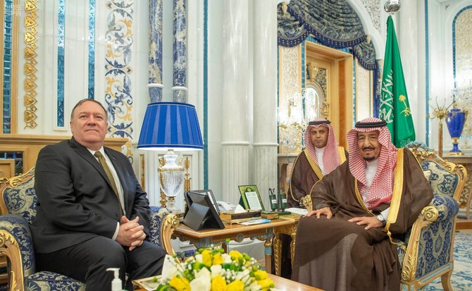 Pompeo visits US troops in Saudi Arabia during trip focused on countering Iran