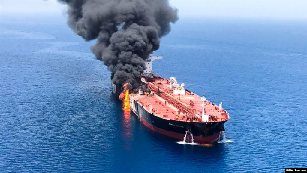 Explosion strikes Israeli-owned ship in Mideast amid U.S.-Iran tension
