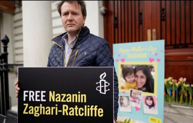 Husband of detained Iranian-British woman announces hunger strike