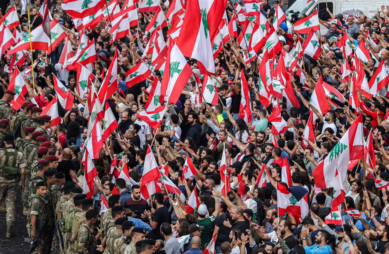 Protesters chant 'Iran, get out, Beirut is free' amid anti-government demonstrations