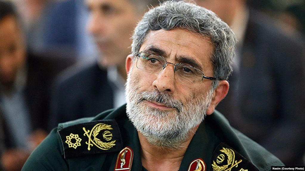Iran Quds Force head Ghaani arrives in Iraq