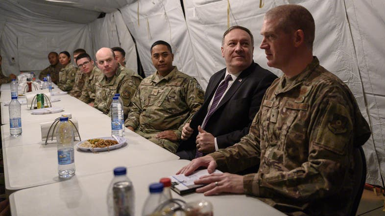 Pompeo visits Saudi Airbase 'to reaffirm' stance with Saudi Arabia against Iran