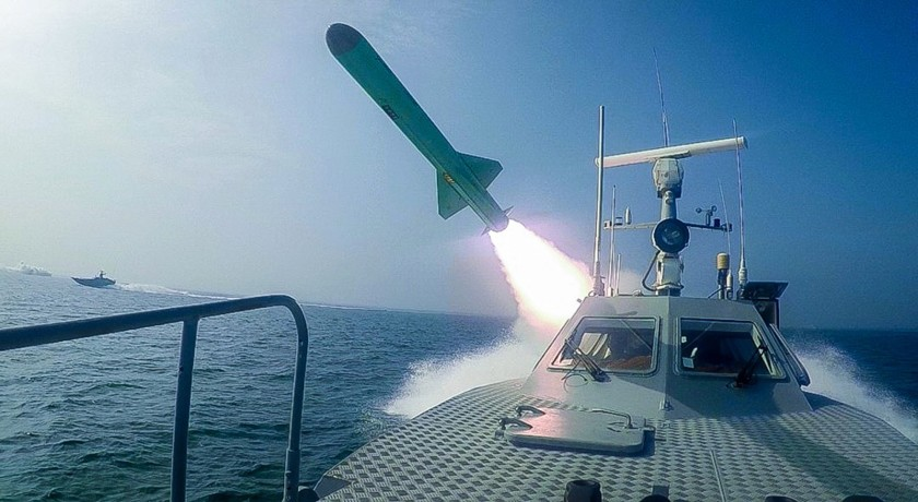 Iran fires cruise missiles during naval drill
