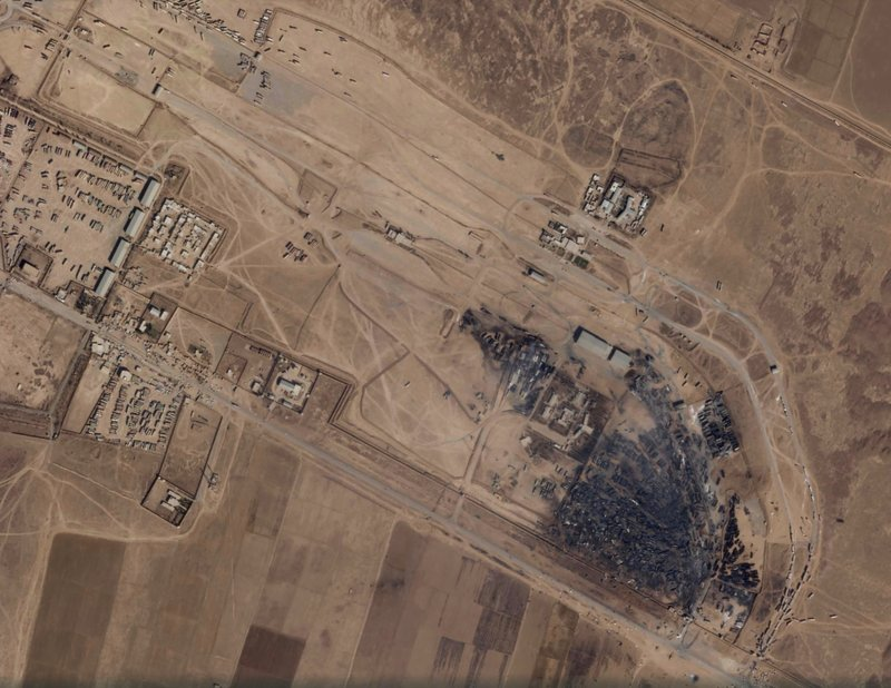 Satellite images show fire devastation on Afghan-Iran border