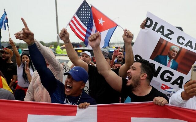Iran denounces US 'interference' as Cuba rocked by rare protests