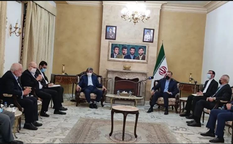 Iran's Foreign Minister meets with Palestinian groups in Beirut